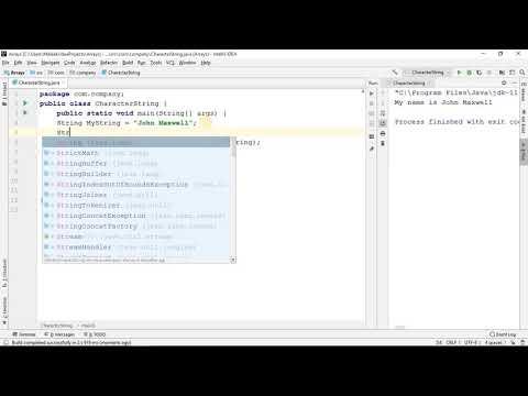 Learn Java (2019 Beginner programming tutorial 5) String Data Type thumbnail