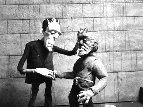 FRANKENSTEIN MEETS THE WOLF MAN STOP MOTION TEST