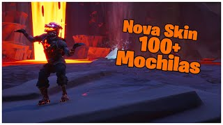 SHOWING THE * NEW * SKIN VOLCANIC COMBAT DOG & 100 + BACKPACKS | FORTNITE