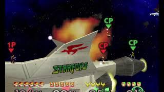 Super Smash Bros 64 - Link and Fox vs Captain Falcon and Ness (Battle 10)