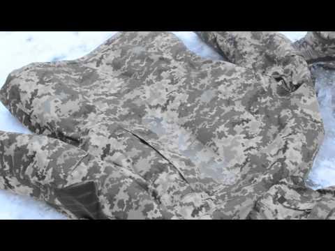 Водонепроницаемый военный костюм Пиксель - тест