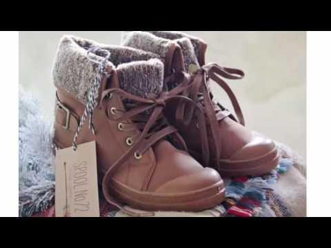 588d07010  احذية شتاء 2017 - احذية شتوية انيقة للبنات - Girls boots Shoes for winter  -part3 - YouTube