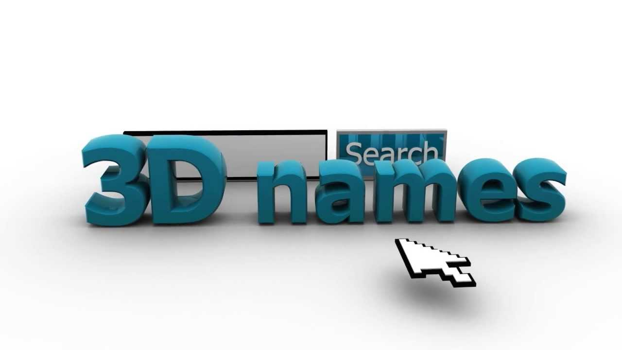 3d Name Wallpapers Youtube
