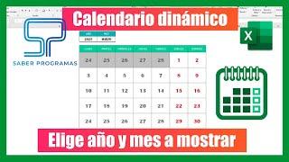 CALENDARIO PERPETUO en Excel sin macros |  Calendario dinámico