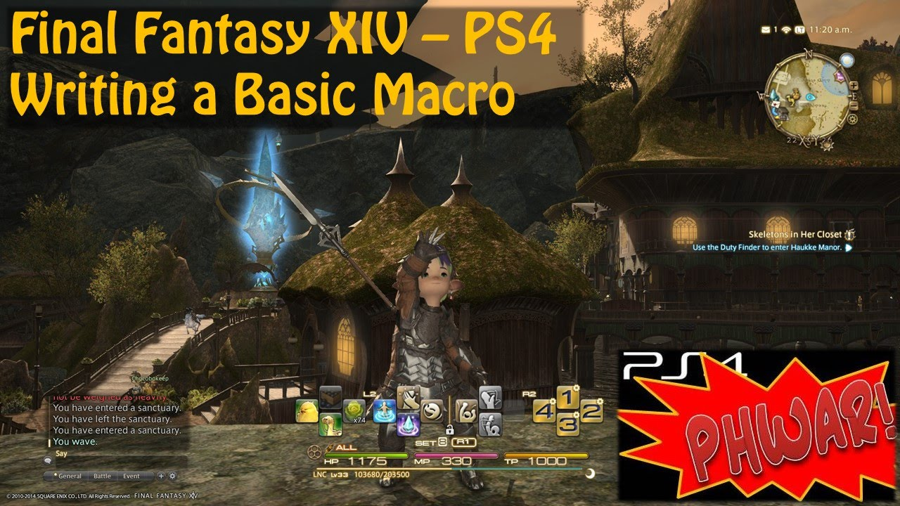 Final fantasy xiv ps4 writing a basic macro youtube ccuart Image collections