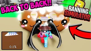 2 GIANT COCONUT SECRET PETS IN A ROW HATCHED!! (Roblox Banning Simulator)