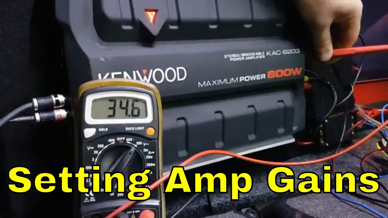 How to set Subwoofer Amp Gains - YouTube