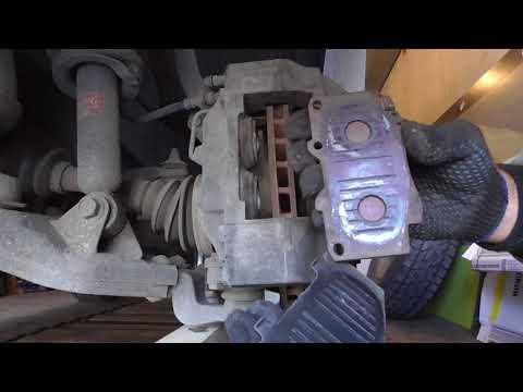 Замена передних тормозных колодок на Сурфе KZN 185