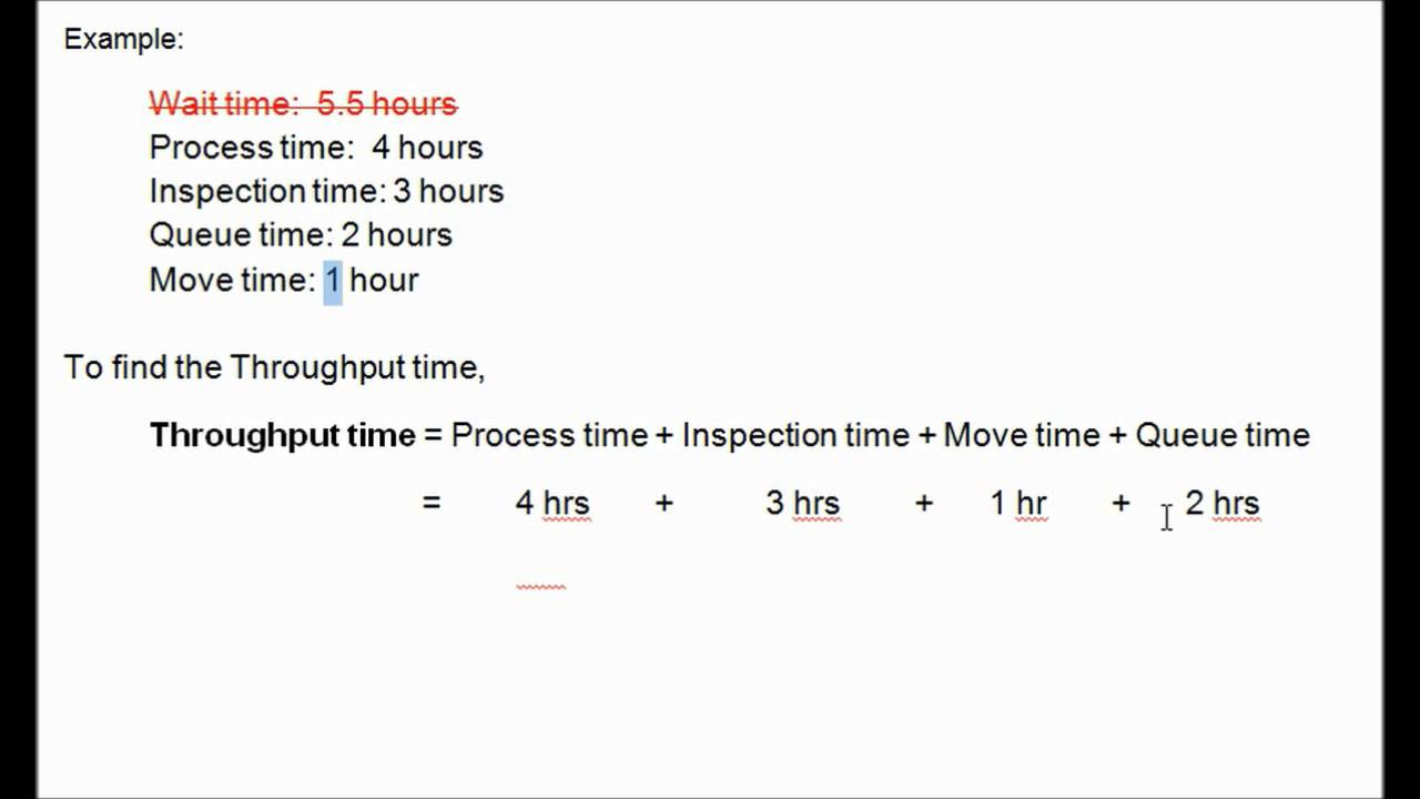 Throughput Time, Manufacturing Cycle Efficiency (Accounting)
