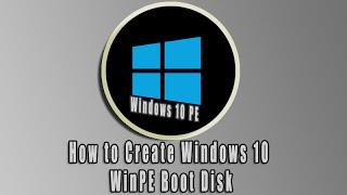 Wie das Erstellen von Windows 10 WinPE Boot-Diskette