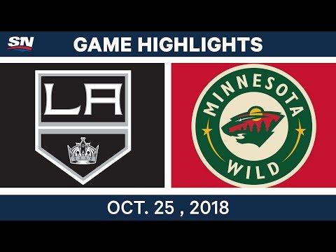 NHL Highlights   Kings vs. Wild- Oct. 25, 2018