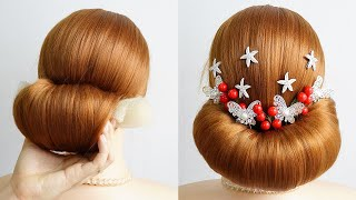 Low Bun Hairstyle For Saree Cute Easy Hairstyles For Prom Long Hair Hairstyle Girls Simple
