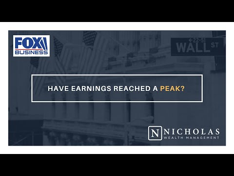 Have Earnings Reached a Peak?