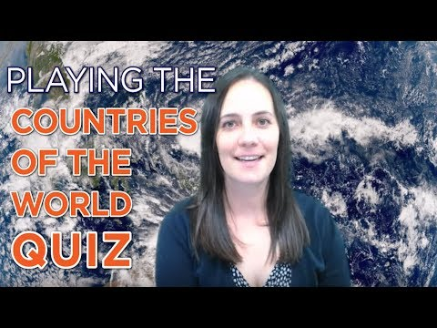 Playing the Countries of the World Quiz