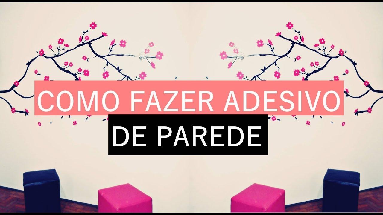 Armario Farmaceutico ~ COMO FAZER ADESIVO DE PAREDE  YouTube