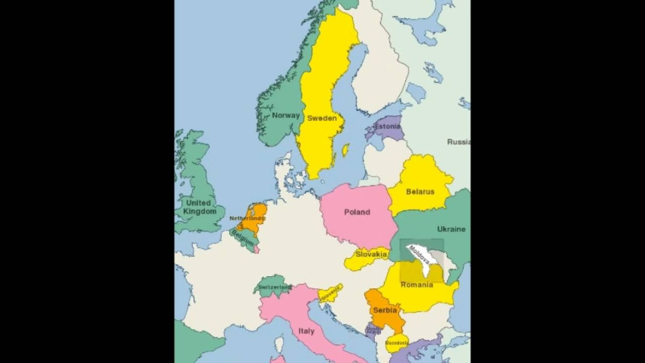 Europe and Middle East Map Puzzle YouTube