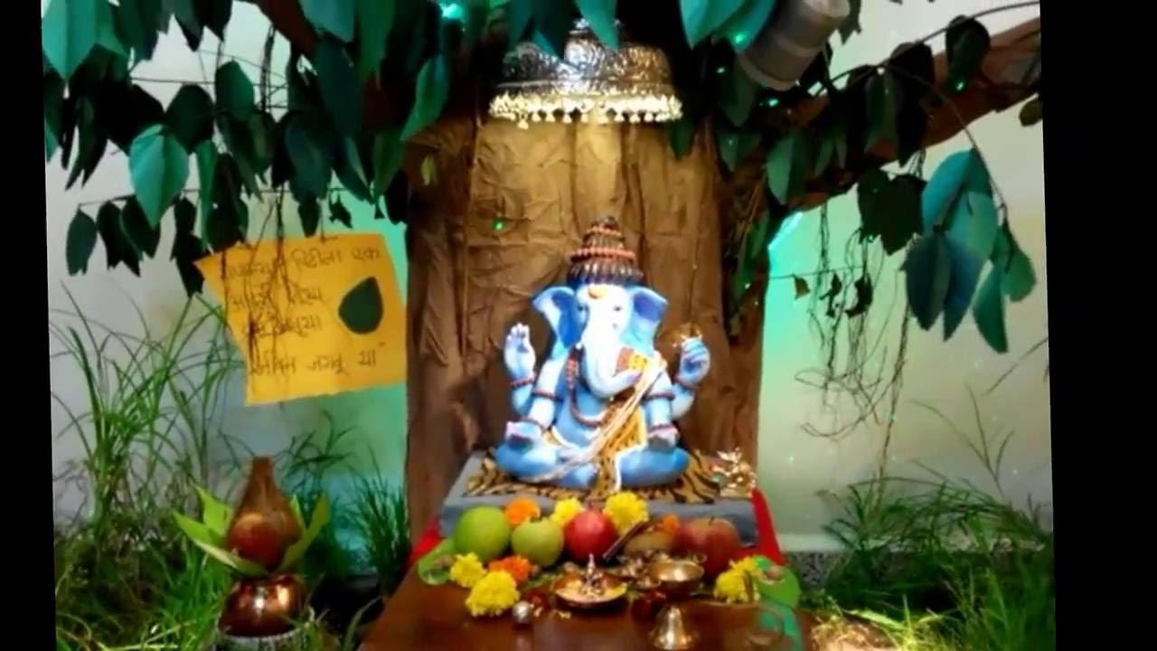 Eco Friendly Ganpati Decoration At Home 2016 Youtube