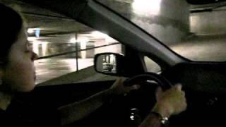 Настя - первые уроки вождения