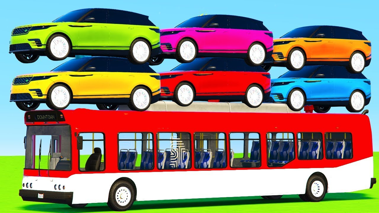 Learn Colors For Kids With 3d Suv Cars Cartoons Bus Videos Colours For Children