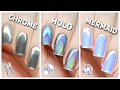 Apply Chrome Holo Amp Mermaid Nail Powders PERFECTLY mp3