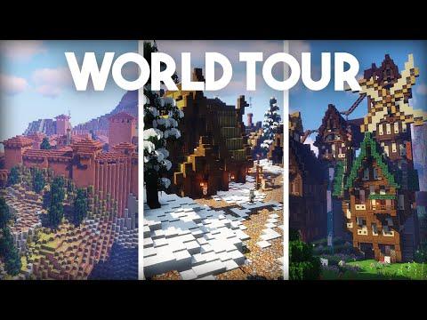 World Tour & Download! | Minecraft 1.14 Vanilla Survival | Episode 225