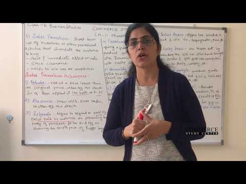 Class 12 Business Studies Chapter 11 - Sales Promotion ( Marketing Management)
