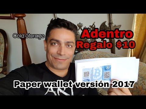 BITCOIN Billetera De Papel Paper Wallet Cold Storage (HOY OBSOLETAS POR HD WALLETS Y BIP39 MNEMONICS