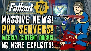 Fallout 76 Official PvP Servers Coming! Massive Info Dump! #Fallout76