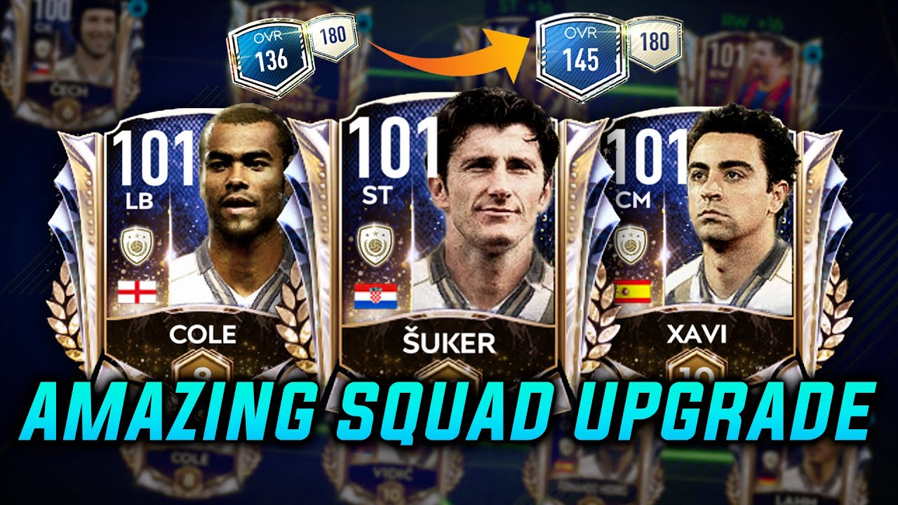 145 RATED AMAZING SQUAD UPGRADE   8 PRIME ICONS & 2 UTOTYS   101 RATED PLAYERS   FIFA MOBILE 21  