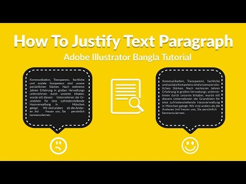 How To Justify Text Paragraph In Adobe Illustrator Bangla Tutorial