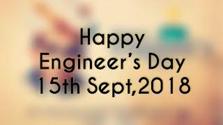 Happy Engineer's Day | Birthday of Mokshagundam Visvesvaraya | Know about Engineers day 2018