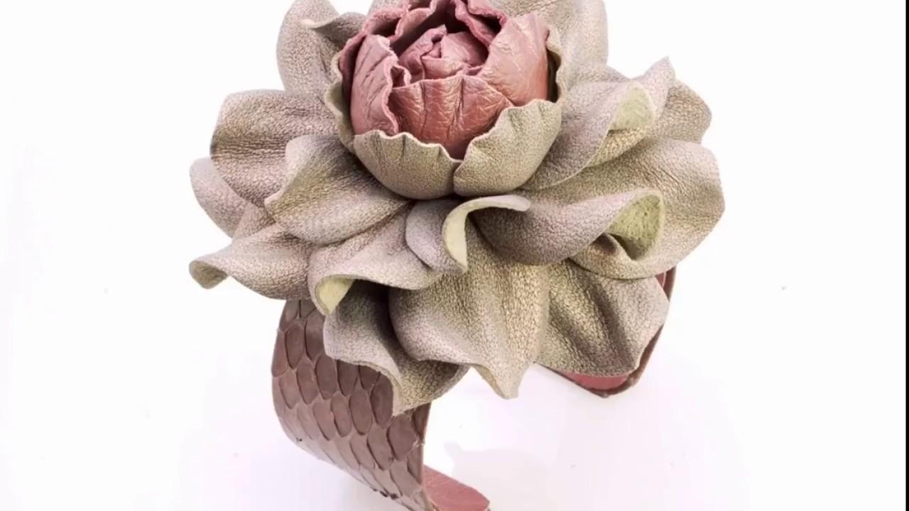 Yak Lialia\'s real leather flower snakeskin-covered bracelets - YouTube