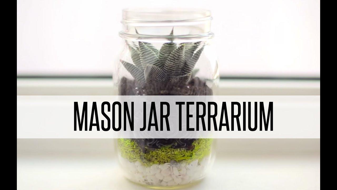 Diy Mason Jar Terrarium Youtube