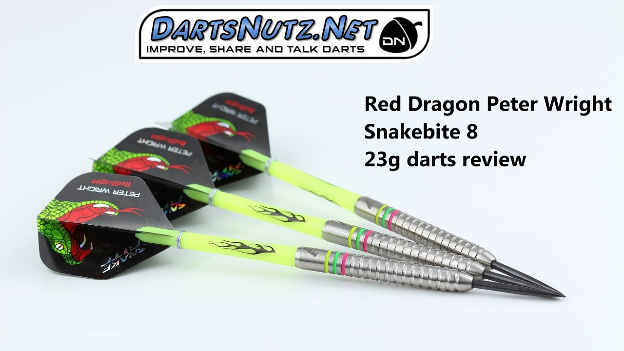 red dragon peter wright snakebite 8 23g darts review youtube