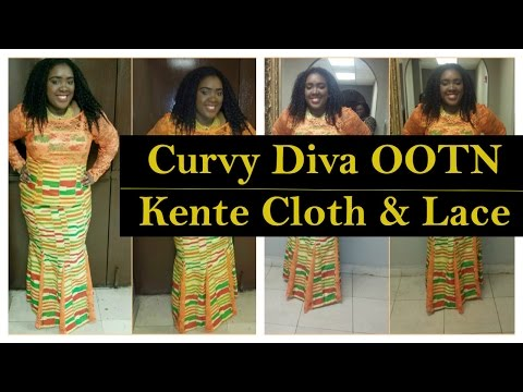 Curvy Diva OOTN | Kente Cloth & Lace (African Fashion)