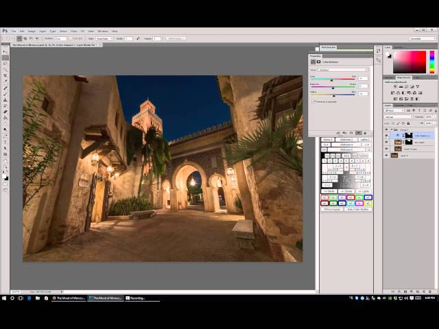 Color Balancing in Photoshop - Walt Disney World Photo Editing