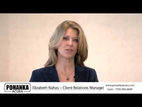 Elizabeth Nahas Client Relations Manager At Pohanka Acura YouTube - Acura client relations
