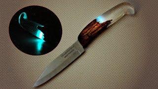 Рукоять на нож из эпоксидной смолы и дерева своими руками