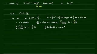 공학수학 1-1장 (Bernoulli 방정식)