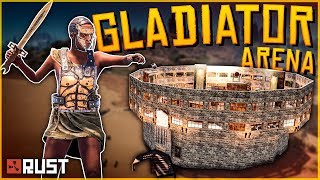 Running a GLADIATOR ARENA in RUST (Insane PvP!) - Rust Shop Event