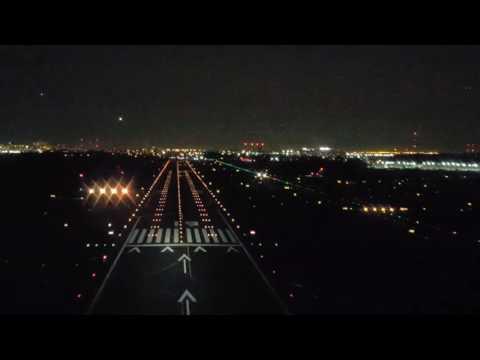 Challenger 350 Night Landing Teterboro, NJ (KTEB) 11/28/16 (KLM)