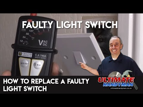 How to replace a faulty light switch