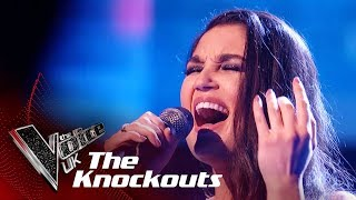 Lauren performs 'Believer' in Round 1 of The Knockouts on The Voice...