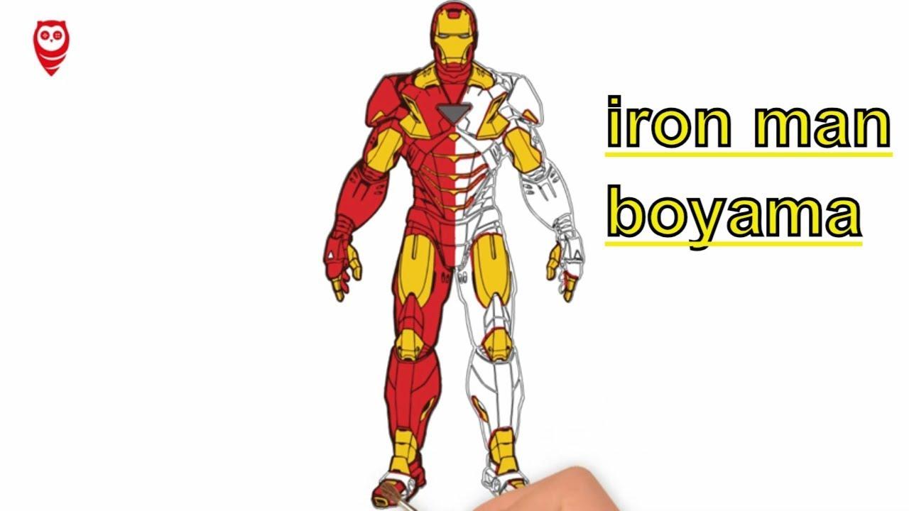 Demir Adam Iron Man Boyama Ve çizim Sayfası çocuklar Için Nasıl