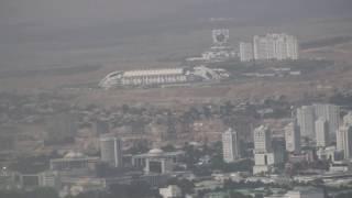 Turkmenistan airlines Посадка в Ашхабад ВПП 30R.(Рейс Туркменбаши - Ашхабад Боинг 737-800. На видео представлены: снижение, маневры самолета, глиссада, посадка,..., 2013-11-11T03:03:21.000Z)