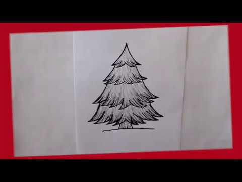 Cómo Dibujar Un Pino De Navidad Dibuja Conmigo Dibujos De Navidad