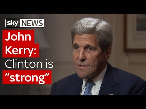 John Kerry talks to Sky News about the oceans, Hillary Clinton, Brexit and Syria