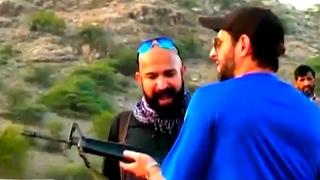Peshawar Zalmi's Boom Boom Afridi Firing Guns with Wajahat Saeed Khan