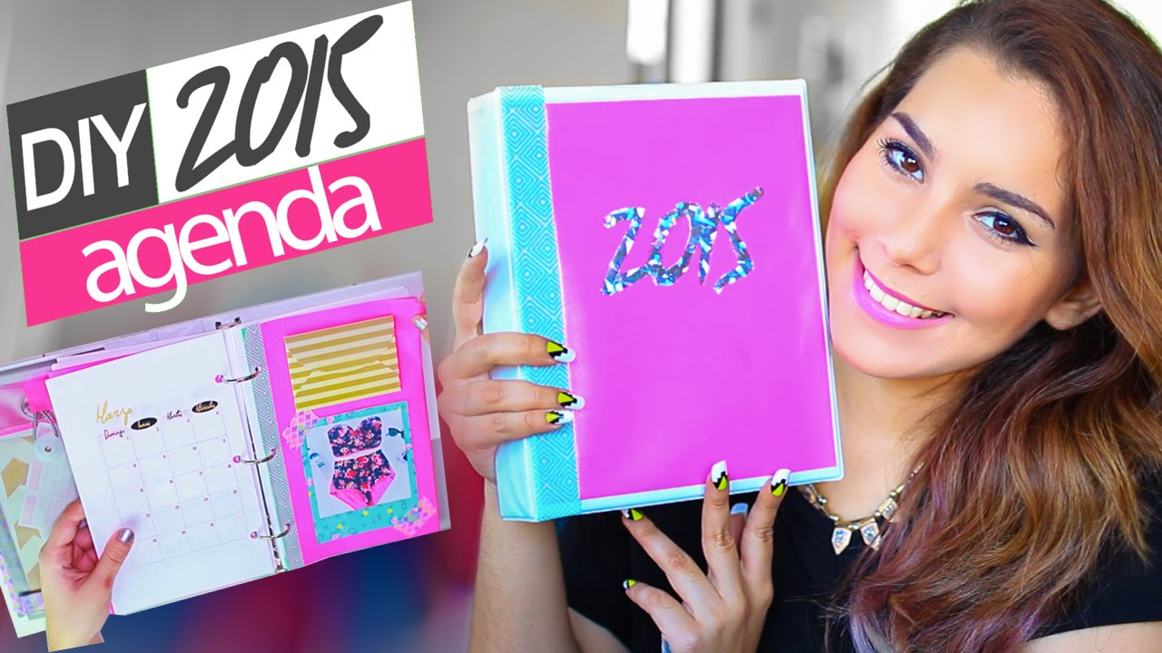 DIY AGENDA 2015 ♥ Jimena Aguilar - YouTube