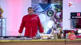برنس الطبخ - ناصر البرنس يستعرض الشكل النهائى لطاجن المكرونة بالصوص الابيض واللحمة